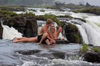 Edge of Victoria Falls, Zimbabwe